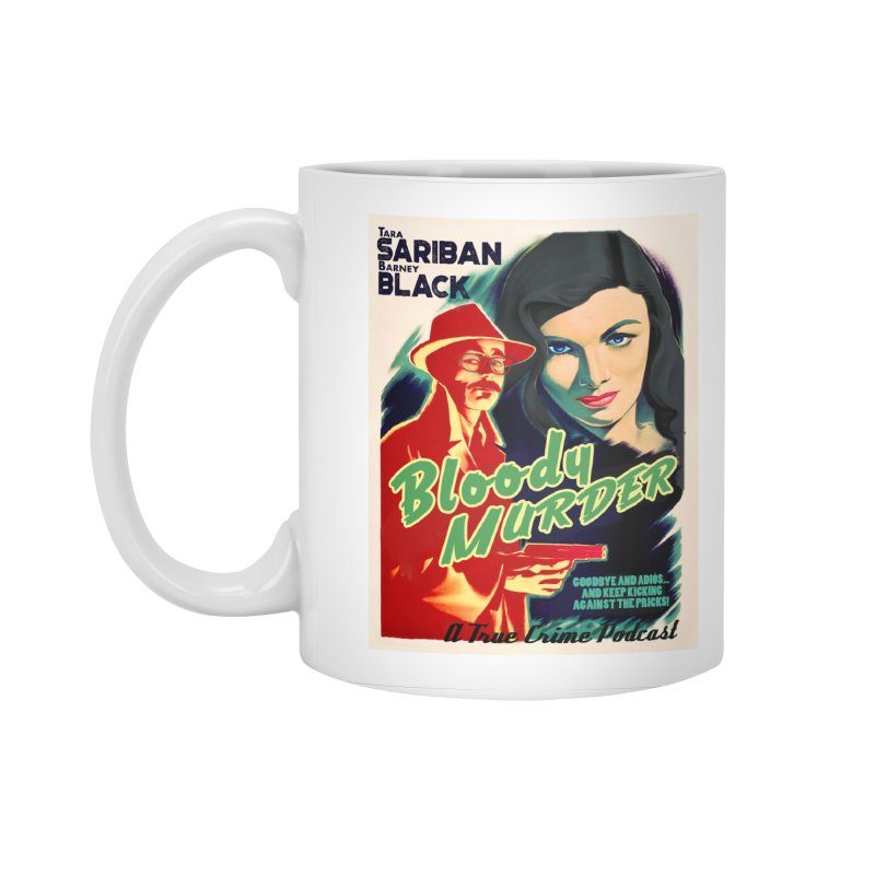 Film Noir Bloody Murder Blue Eyes Accessories Standard Mug by Bloody Murder's Artist Shop