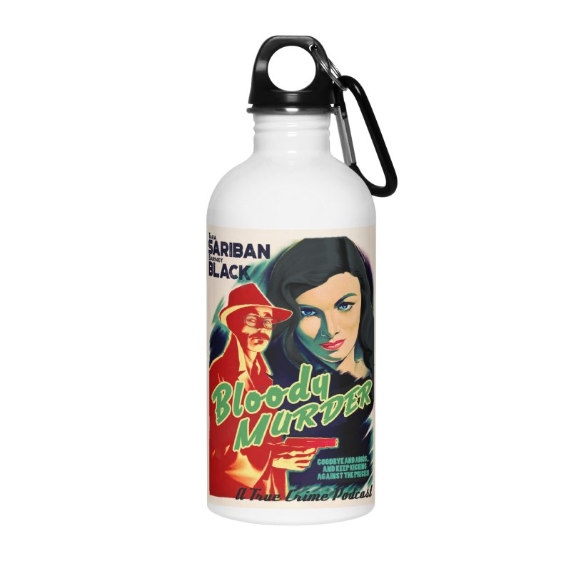 Film Noir Bloody Murder Blue Eyes Accessories Water Bottle by bloodymurder's Artist Shop