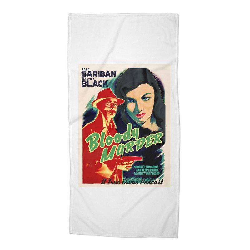 Film Noir Bloody Murder Blue Eyes Accessories Beach Towel by bloodymurder's Artist Shop