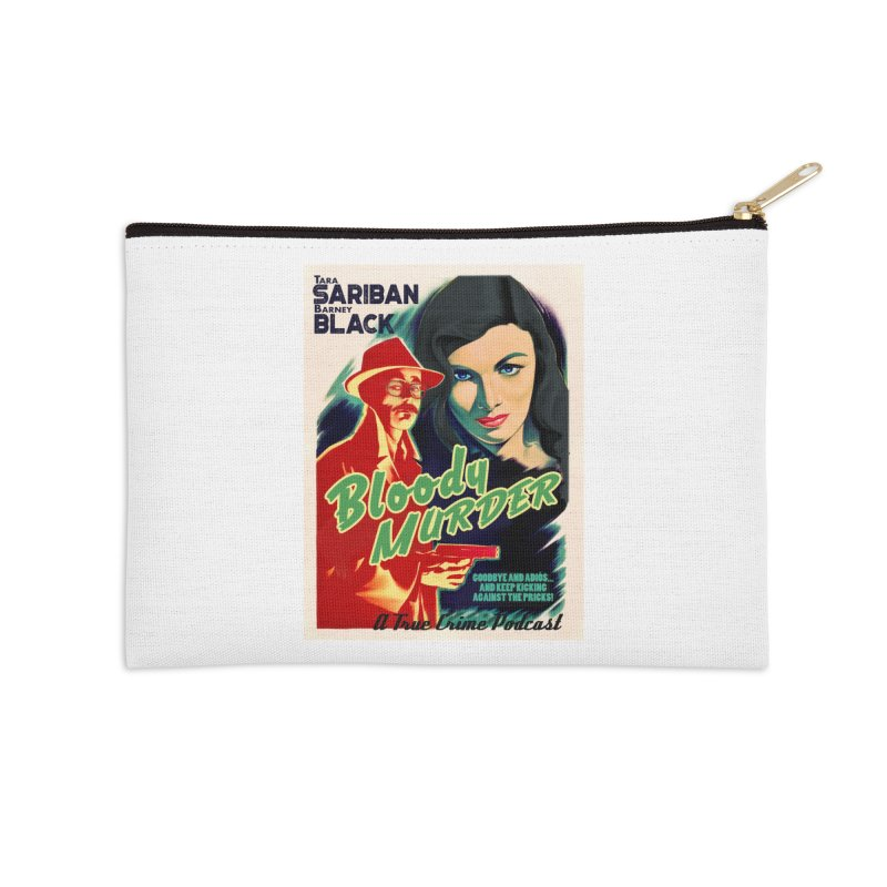 Film Noir Bloody Murder Blue Eyes Accessories Zip Pouch by Bloody Murder's Artist Shop