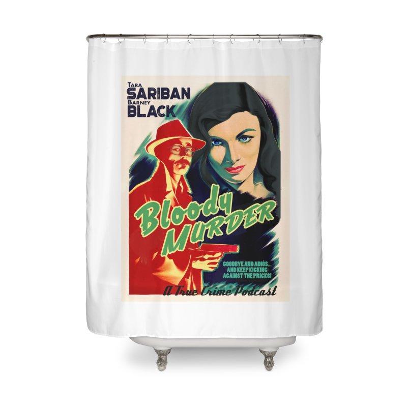 Film Noir Bloody Murder Blue Eyes Home Shower Curtain by Bloody Murder's Artist Shop