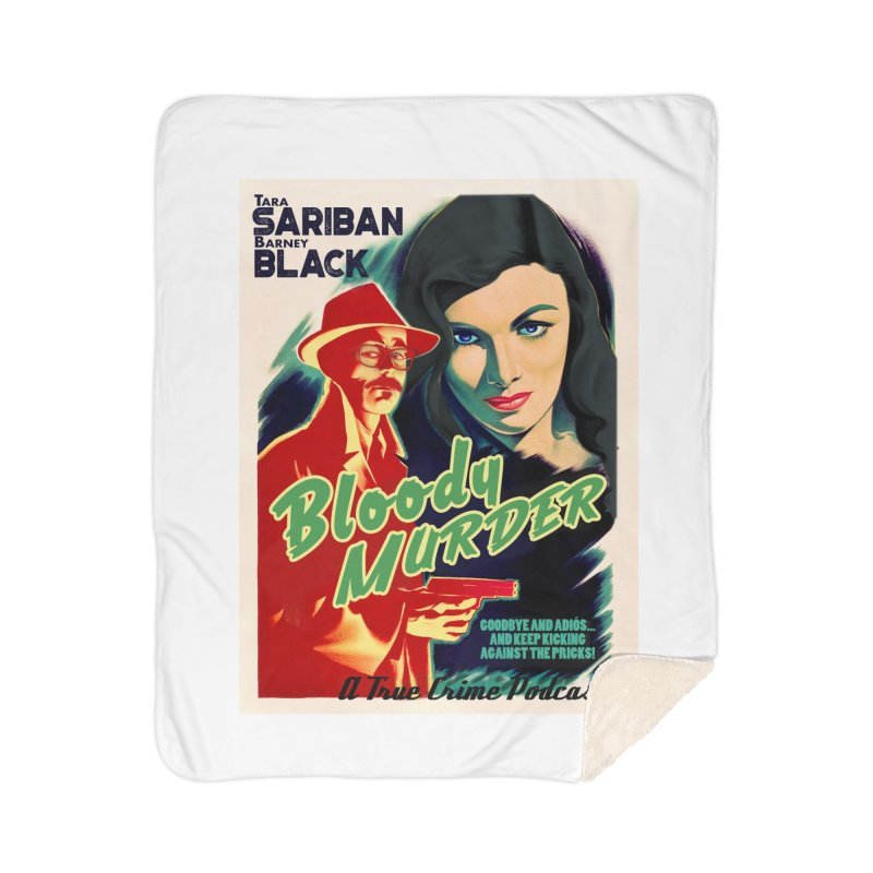 Film Noir Bloody Murder Blue Eyes Home Sherpa Blanket Blanket by Bloody Murder's Artist Shop