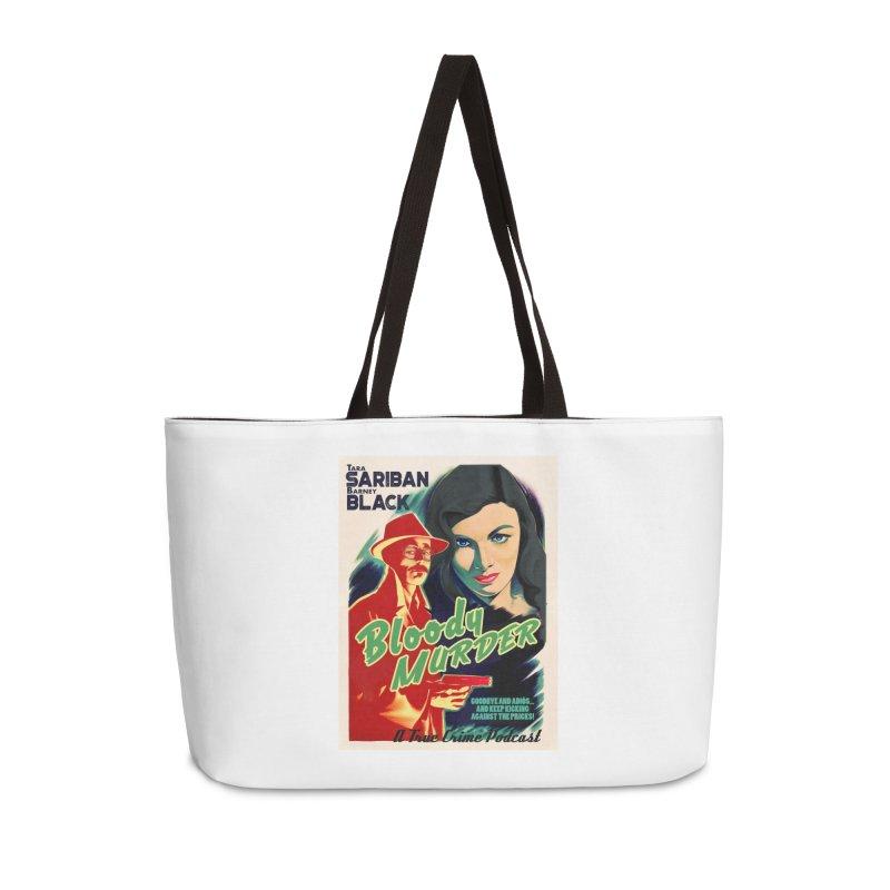 Film Noir Bloody Murder Blue Eyes Accessories Weekender Bag Bag by Bloody Murder's Artist Shop