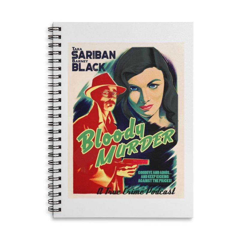 Film Noir Bloody Murder Blue Eyes Accessories Lined Spiral Notebook by Bloody Murder's Artist Shop