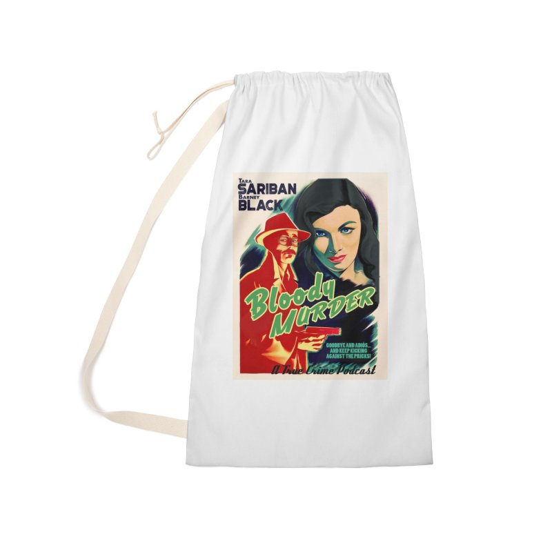 Film Noir Bloody Murder Blue Eyes Accessories Laundry Bag Bag by Bloody Murder's Artist Shop