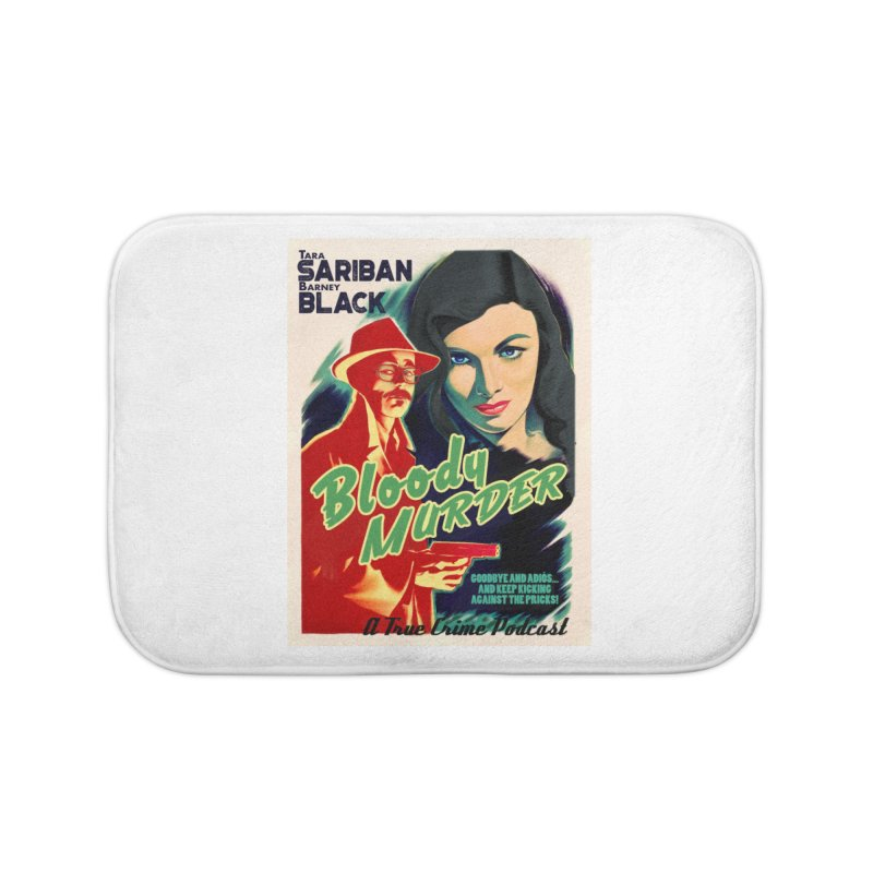 Film Noir Bloody Murder Blue Eyes Home Bath Mat by Bloody Murder's Artist Shop