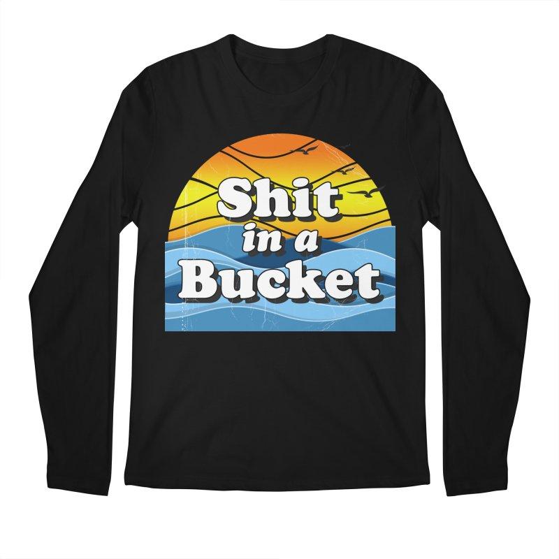 Shit in a Bucket 1976 Men's Regular Longsleeve T-Shirt by Bloody Murder's Artist Shop
