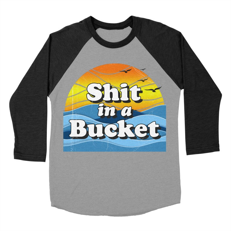 Shit in a Bucket 1976 Women's Baseball Triblend Longsleeve T-Shirt by Bloody Murder's Artist Shop