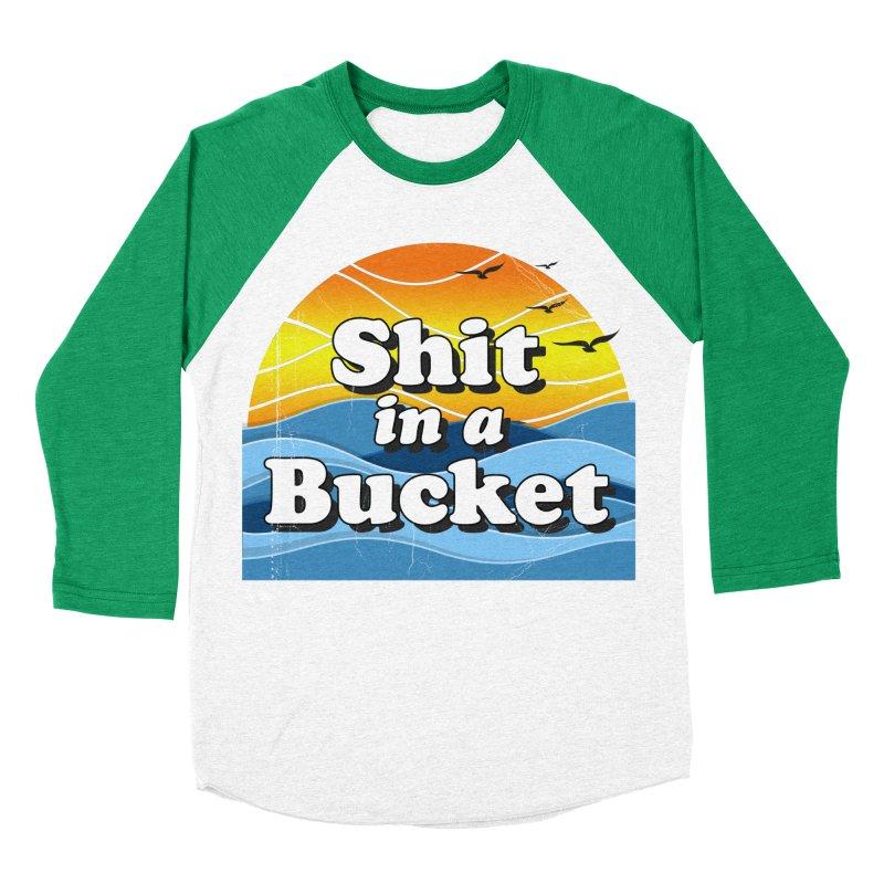 Shit in a Bucket 1976 Men's Baseball Triblend Longsleeve T-Shirt by Bloody Murder's Artist Shop