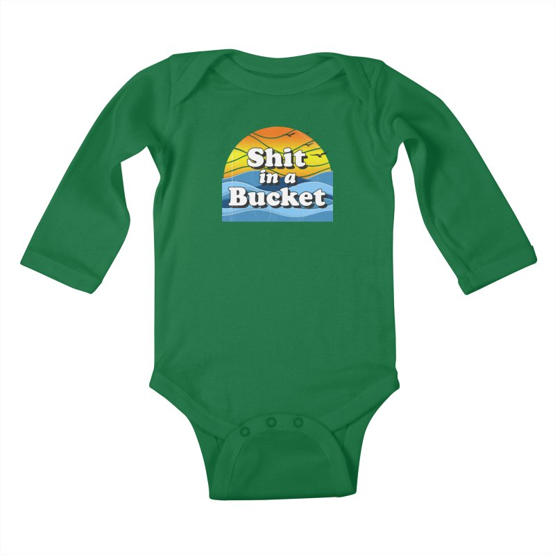 Shit in a Bucket 1976 Kids Baby Longsleeve Bodysuit by bloodymurder's Artist Shop