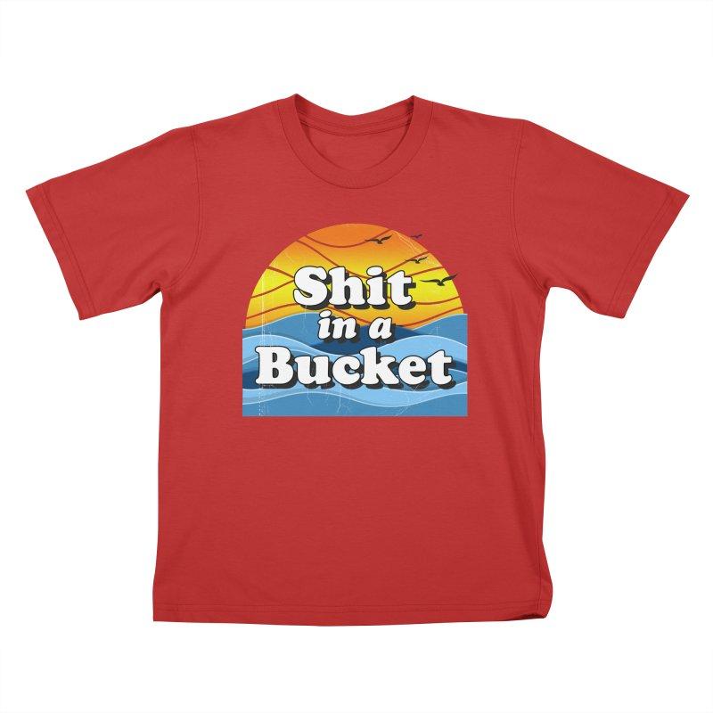 Shit in a Bucket 1976 Kids T-Shirt by Bloody Murder's Artist Shop