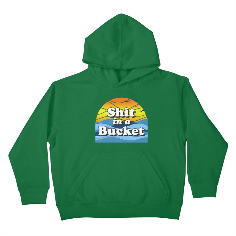 Shit in a Bucket 1976 Kids Pullover Hoody by Bloody Murder's Artist Shop