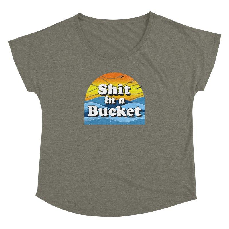 Shit in a Bucket 1976 Women's Dolman Scoop Neck by Bloody Murder's Artist Shop