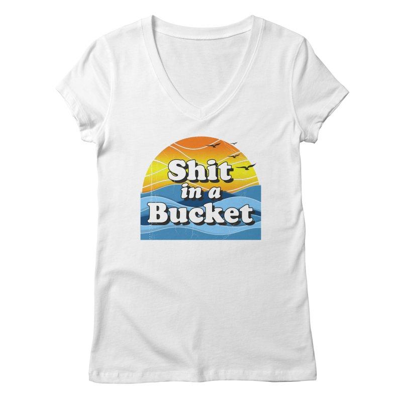 Shit in a Bucket 1976 Women's Regular V-Neck by Bloody Murder's Artist Shop