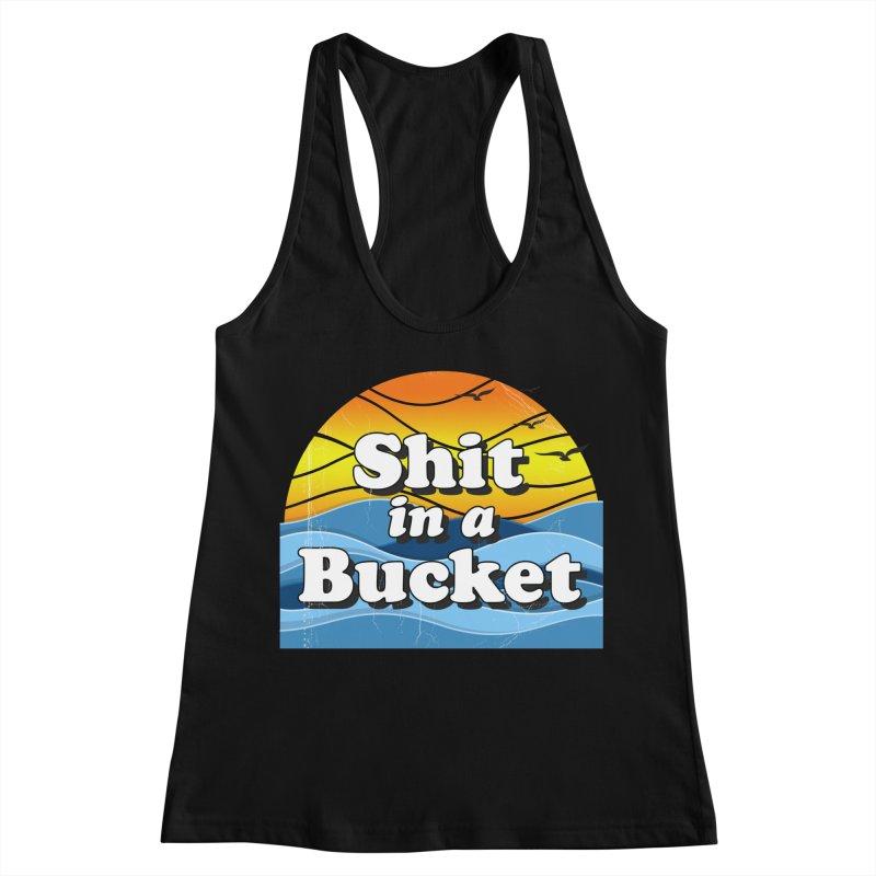 Shit in a Bucket 1976 Women's Racerback Tank by Bloody Murder's Artist Shop