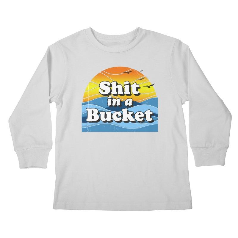 Shit in a Bucket 1976 Kids Longsleeve T-Shirt by Bloody Murder's Artist Shop