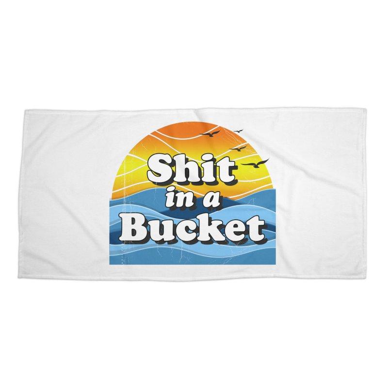 Shit in a Bucket 1976 Accessories Beach Towel by bloodymurder's Artist Shop