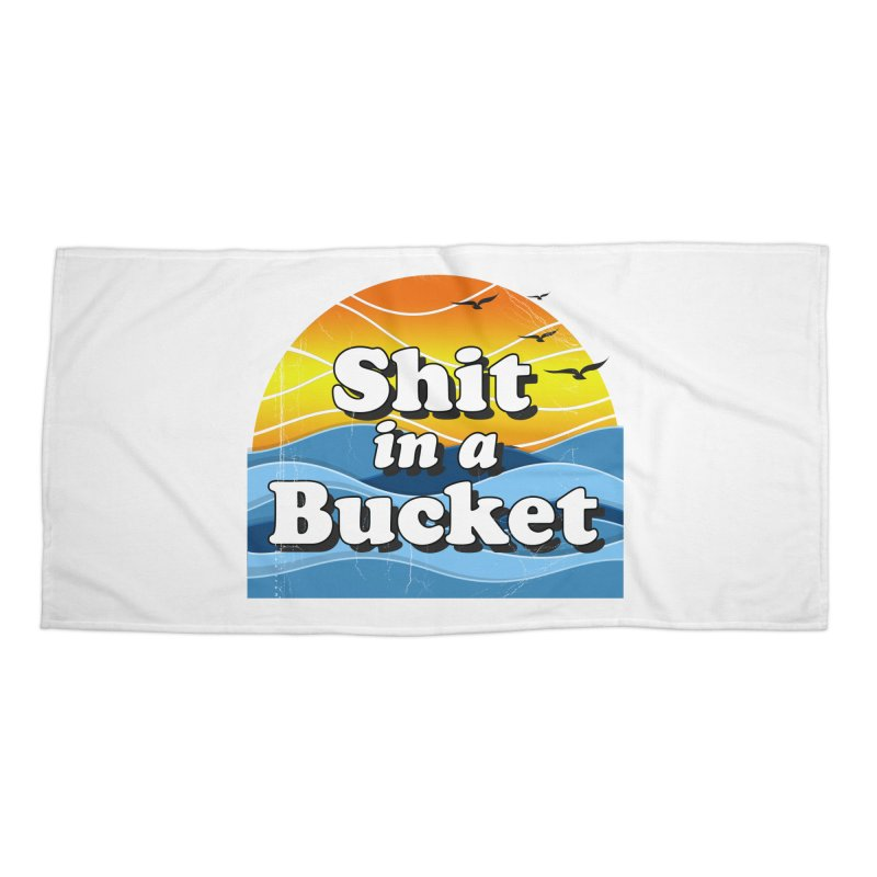 Shit in a Bucket 1976 Accessories Beach Towel by bloodymurder's Artist Shop