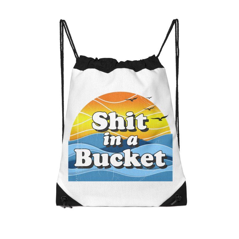 Shit in a Bucket 1976 Accessories Drawstring Bag Bag by Bloody Murder's Artist Shop