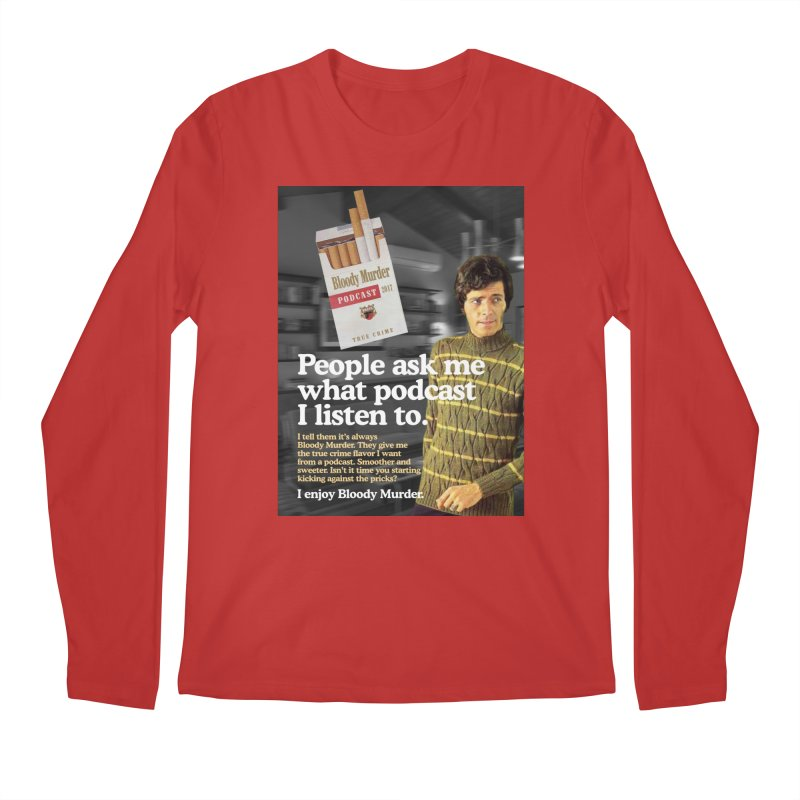 Bloody Murder 1970's Magazine Style Advert Men's Longsleeve T-Shirt by bloodymurder's Artist Shop