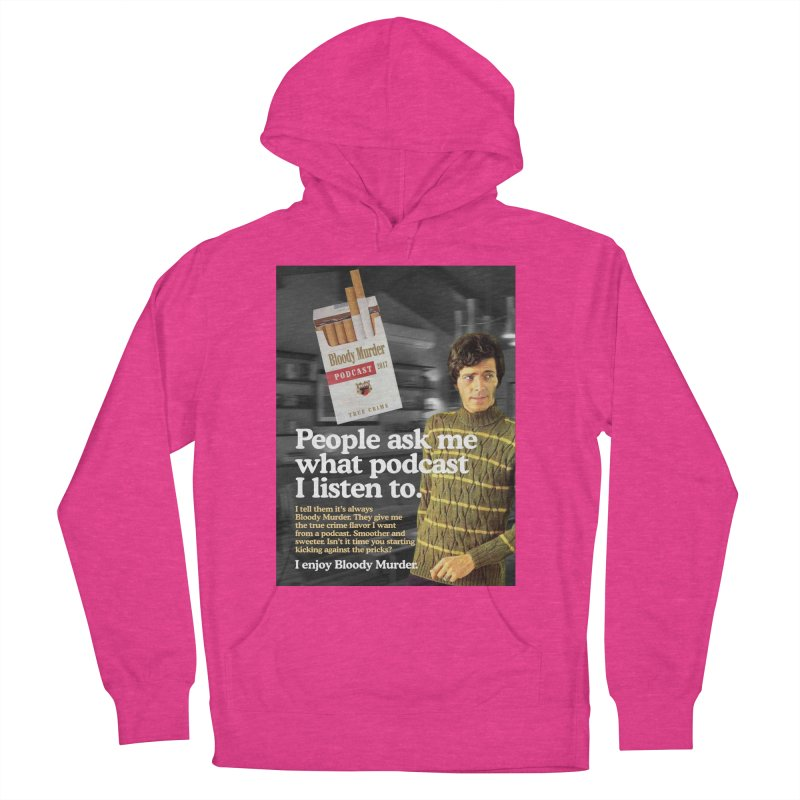 Bloody Murder 1970's Magazine Style Advert Women's French Terry Pullover Hoody by Bloody Murder's Artist Shop