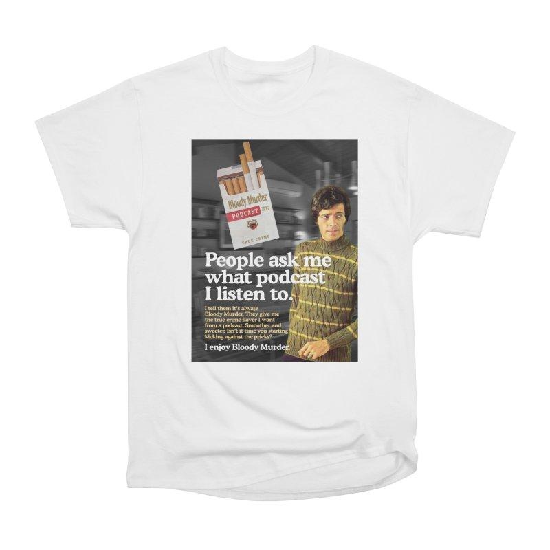 Bloody Murder 1970's Magazine Style Advert Men's Heavyweight T-Shirt by Bloody Murder's Artist Shop