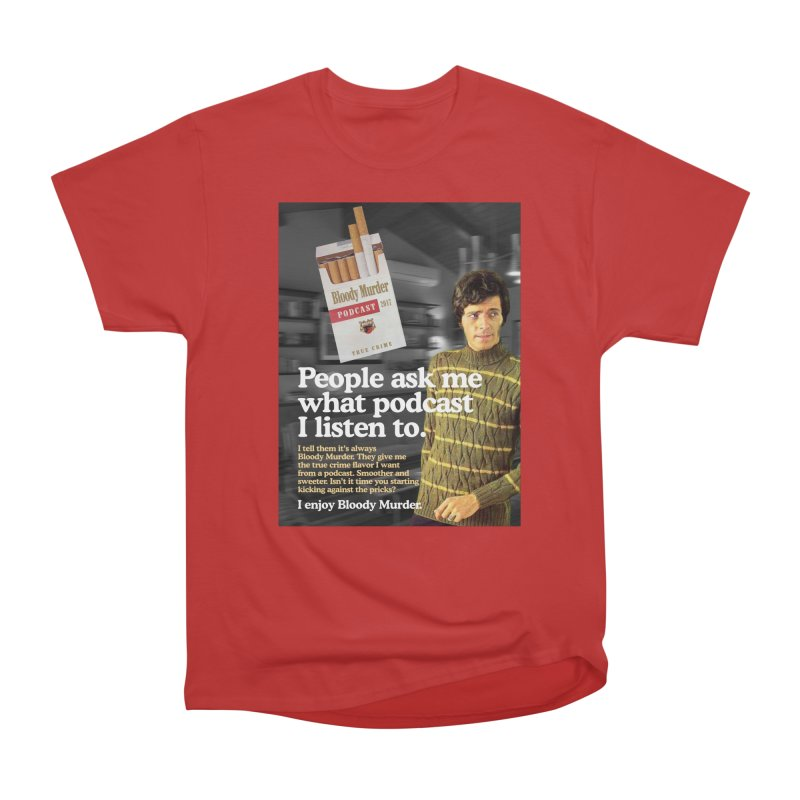 Bloody Murder 1970's Magazine Style Advert Men's Heavyweight T-Shirt by bloodymurder's Artist Shop