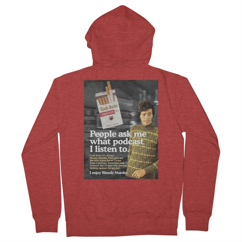 Bloody Murder 1970's Magazine Style Advert Women's French Terry Zip-Up Hoody by Bloody Murder's Artist Shop