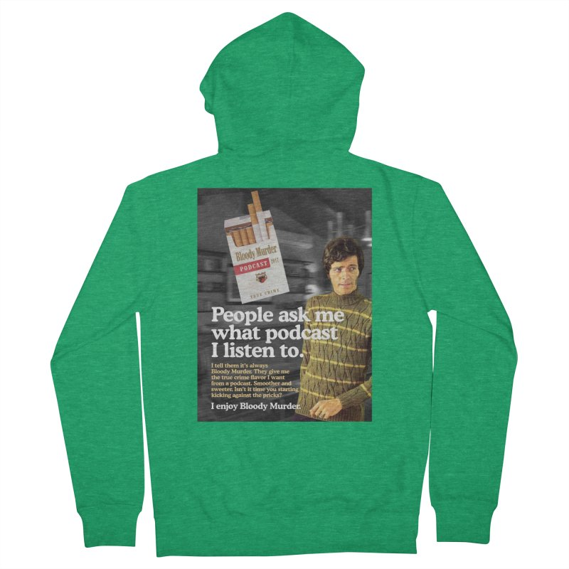 Bloody Murder 1970's Magazine Style Advert Men's Zip-Up Hoody by Bloody Murder's Artist Shop