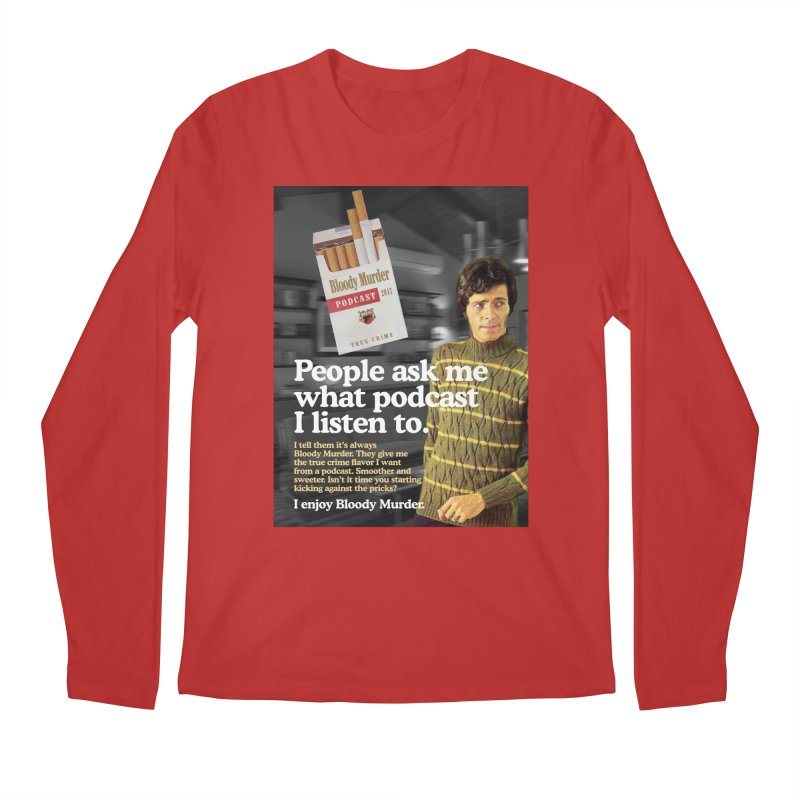 Bloody Murder 1970's Magazine Style Advert Men's Longsleeve T-Shirt by Bloody Murder's Artist Shop