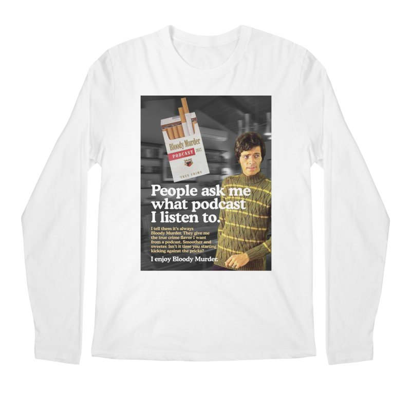 Bloody Murder 1970's Magazine Style Advert Men's Regular Longsleeve T-Shirt by Bloody Murder's Artist Shop