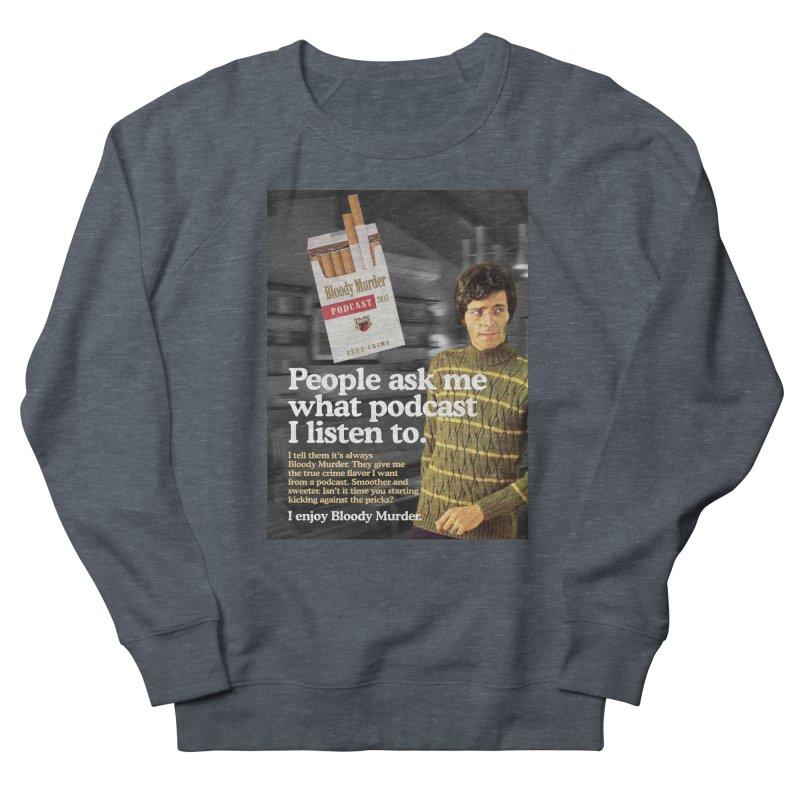 Bloody Murder 1970's Magazine Style Advert Men's French Terry Sweatshirt by bloodymurder's Artist Shop