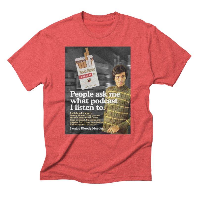 Bloody Murder 1970's Magazine Style Advert Men's Triblend T-Shirt by Bloody Murder's Artist Shop
