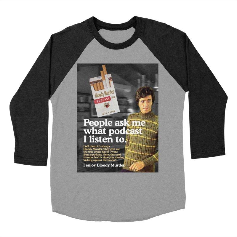 Bloody Murder 1970's Magazine Style Advert Men's Baseball Triblend Longsleeve T-Shirt by Bloody Murder's Artist Shop