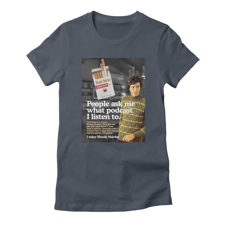 Bloody Murder 1970's Magazine Style Advert Women's T-Shirt by Bloody Murder's Artist Shop