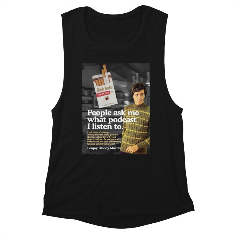 Bloody Murder 1970's Magazine Style Advert Women's Tank by Bloody Murder's Artist Shop
