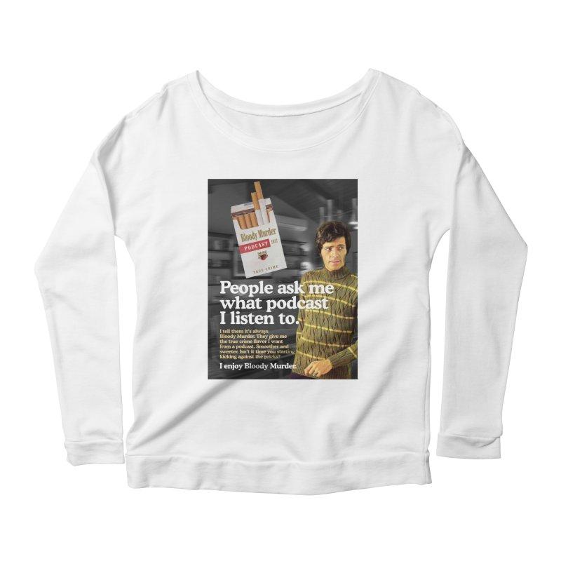 Bloody Murder 1970's Magazine Style Advert Women's Scoop Neck Longsleeve T-Shirt by Bloody Murder's Artist Shop