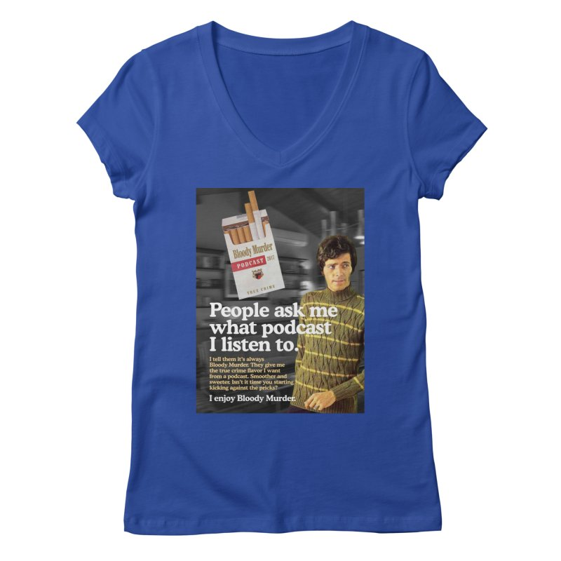 Bloody Murder 1970's Magazine Style Advert Women's Regular V-Neck by bloodymurder's Artist Shop