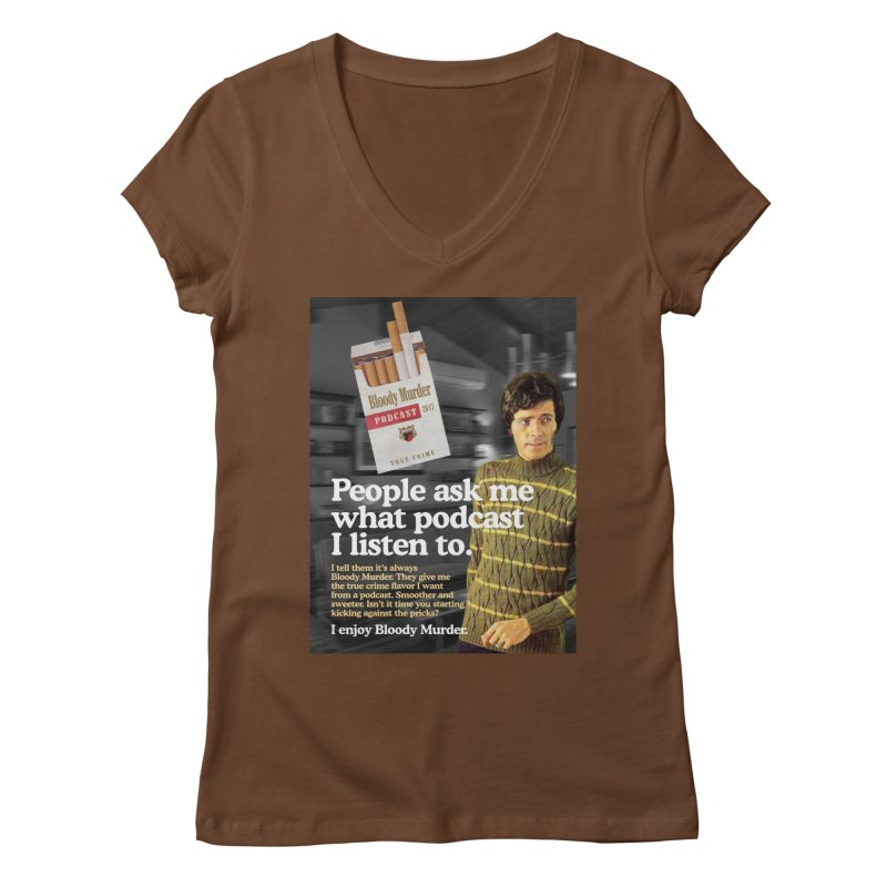 Bloody Murder 1970's Magazine Style Advert Women's Regular V-Neck by Bloody Murder's Artist Shop