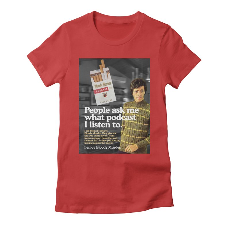 Bloody Murder 1970's Magazine Style Advert Women's Fitted T-Shirt by Bloody Murder's Artist Shop