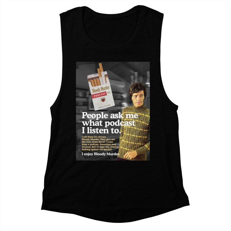 Bloody Murder 1970's Magazine Style Advert Women's Muscle Tank by Bloody Murder's Artist Shop