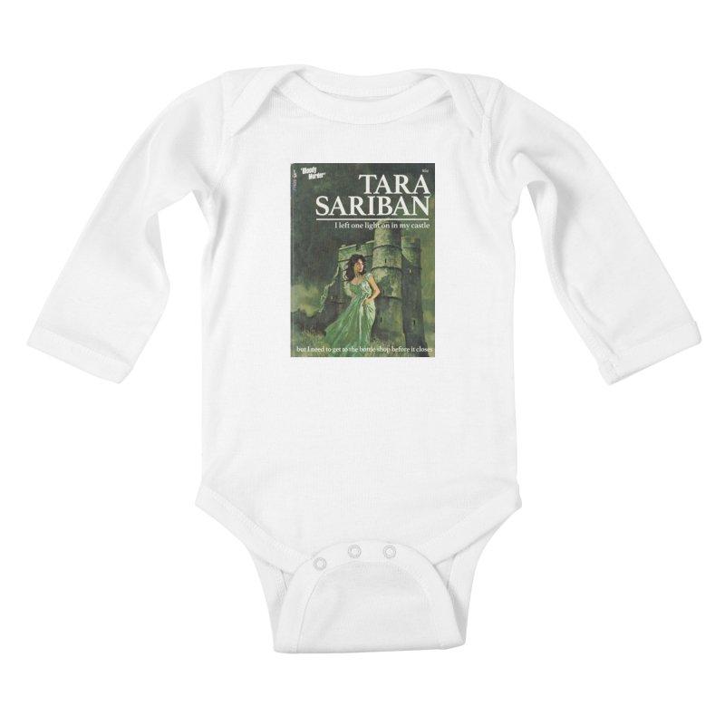 Tara Castle Kids Baby Longsleeve Bodysuit by Bloody Murder's Artist Shop