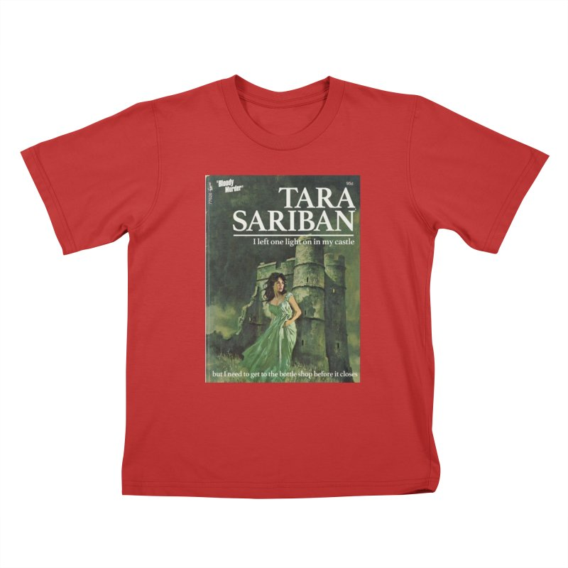 Tara Castle Kids T-Shirt by Bloody Murder's Artist Shop