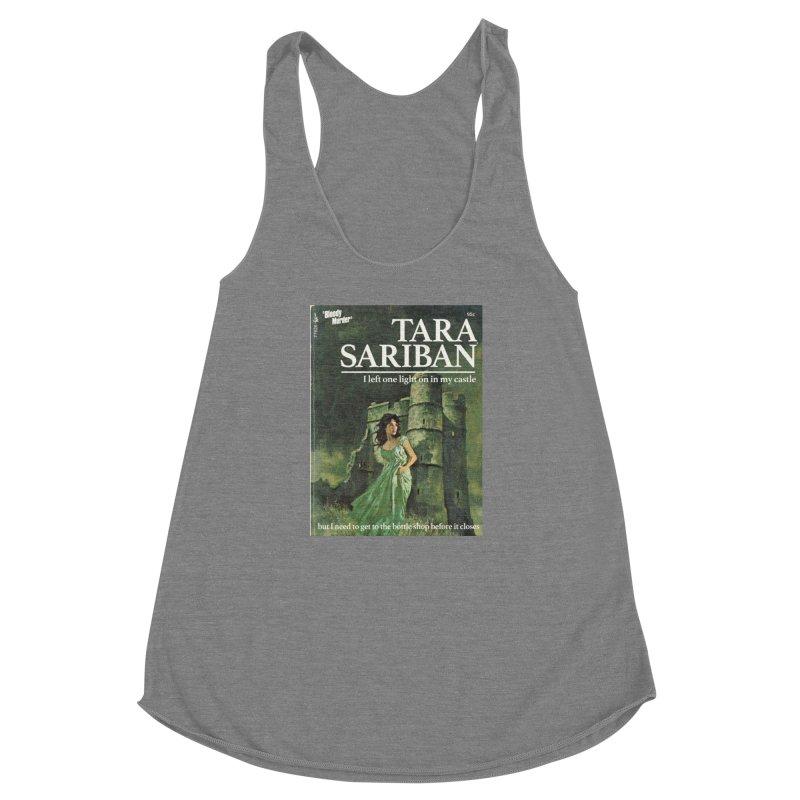 Tara Castle Women's Racerback Triblend Tank by Bloody Murder's Artist Shop