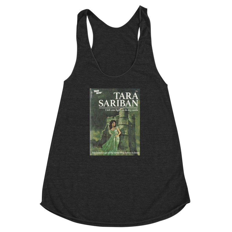 Tara Castle Women's Racerback Triblend Tank by bloodymurder's Artist Shop