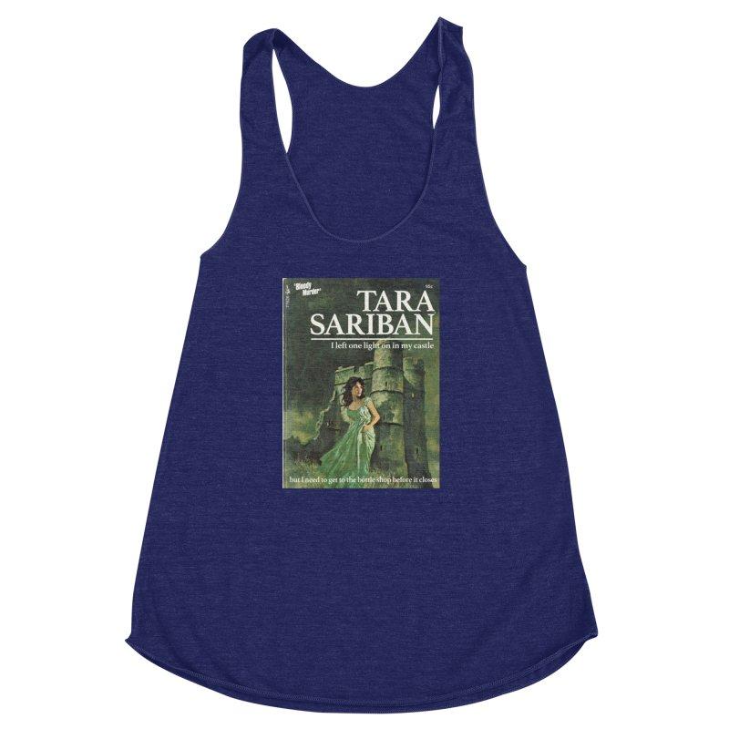 Tara Castle Women's Racerback Triblend Tank by bloodymurder's Artist Shop