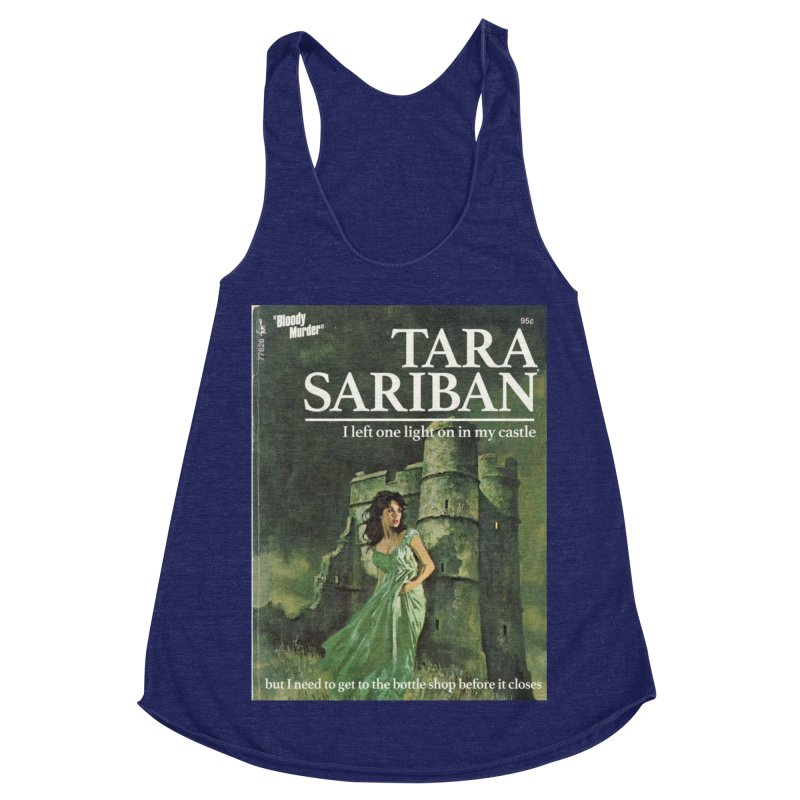 Tara Castle Women's Racerback Triblend Tank by Bloody Murder's Artist Shop