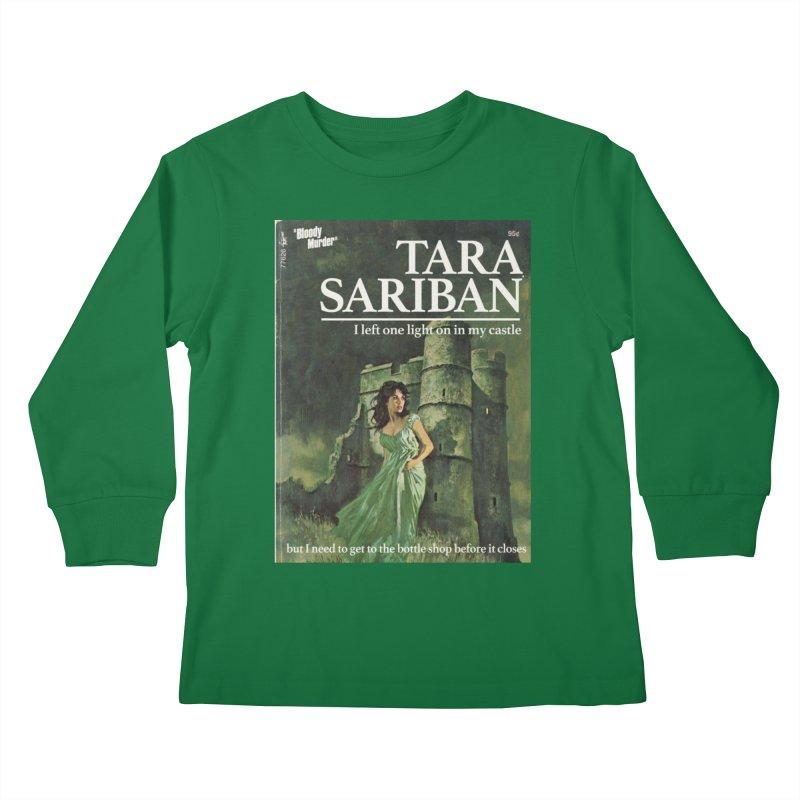 Tara Castle Kids Longsleeve T-Shirt by Bloody Murder's Artist Shop