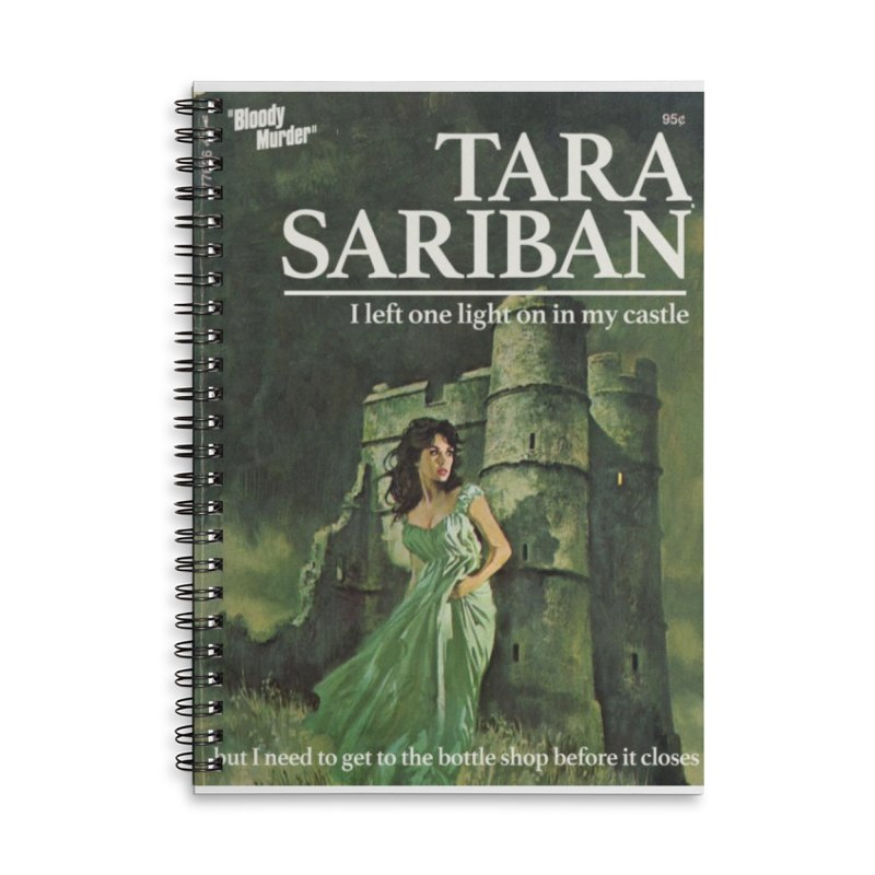 Tara Castle Accessories Lined Spiral Notebook by Bloody Murder's Artist Shop