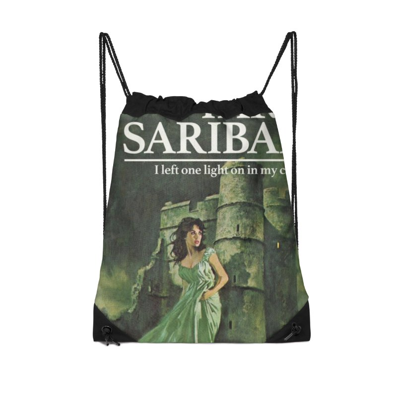 Tara Castle Accessories Drawstring Bag Bag by Bloody Murder's Artist Shop
